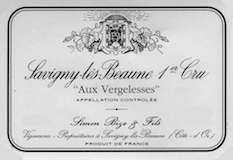 Domaine Simon Bize et Fils Savigny-lès-Beaune Premier Cru Les Vergelesses label