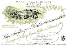 Egon Müller Scharzhofberger Riesling TBA label