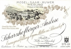 Egon Müller Scharzhofberger Riesling Auslese label