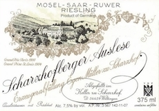 Egon Müller Scharzhofberger Riesling Spätlese label
