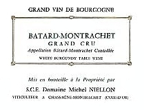 Domaine Michel Niellon Bâtard-Montrachet Grand Cru  label