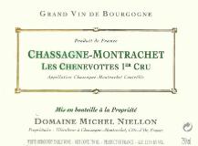 Domaine Michel Niellon Chassagne-Montrachet Premier Cru Les Chenevottes label