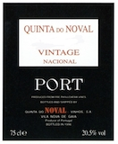 Quinta do Noval Porto Nacional Vintage Port label