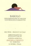 Andrea Oberto Barolo  label