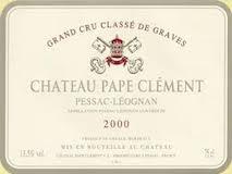 Château Pape Clément Blanc Cru Classé de Graves label