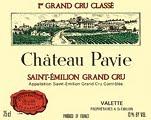Château Pavie  Premier Grand Cru Classé A label