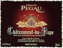 Domaine du Pegau Châteauneuf-du-Pape Cuvée Da Capo label