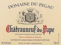 Domaine du Pegau Châteauneuf-du-Pape Cuvée Laurence label
