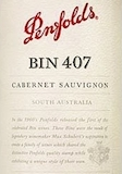 Penfolds Bin 407 Cabernet Sauvignon label