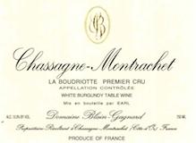 Blain-Gagnard Chassagne-Montrachet Premier Cru La Boudriotte label