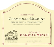 Domaine Perrot-Minot Chambolle-Musigny Premier Cru La Combe d'Orveaux Vieilles Vignes label