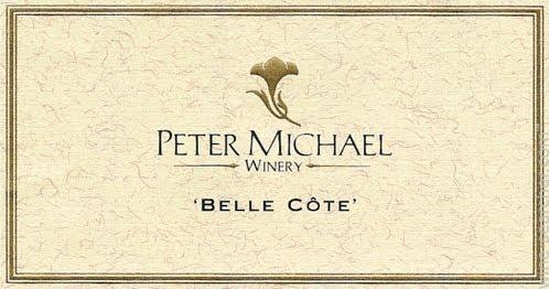 Peter Michael Belle Côte Chardonnay label