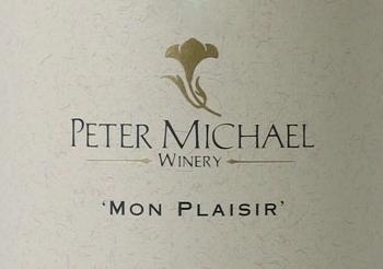 Peter Michael Mon Plaisir Chardonnay label
