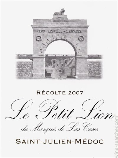 Château Léoville Las Cases Le Petit Lion label