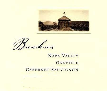 Joseph Phelps Vineyards Backus Cabernet Sauvignon label