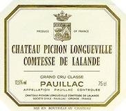 Château Pichon Longueville Comtesse de Lalande  Deuxième Cru label