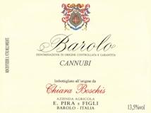 E. Pira e Figli (Chiara Boschis) Barolo Cannubi label