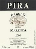 Luigi Pira Barolo Marenca label
