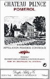 Château Plince  label