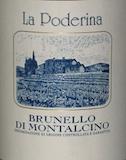 La Poderina Brunello di Montalcino  label