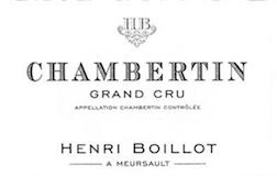 Maison Henri Boillot Chambertin Grand Cru  label