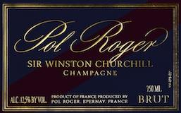 Pol Roger Cuvée Sir Winston Churchill label