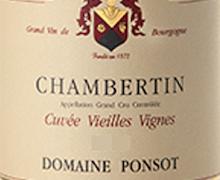 Domaine Ponsot Chambertin Grand Cru Cuvée Vieilles vignes label