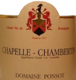 Domaine Ponsot Chapelle-Chambertin Grand Cru  label