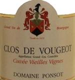 Domaine Ponsot Clos de Vougeot Grand Cru Cuvée Vieilles vignes label