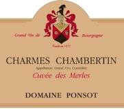 Domaine Ponsot Charmes-Chambertin Grand Cru Cuvée des Merles label