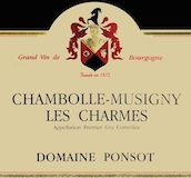 Domaine Ponsot Chambolle-Musigny Premier Cru Les Charmes label
