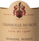 Domaine Ponsot Chambolle-Musigny Cuvée des Cigales label