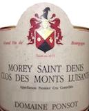 Domaine Ponsot Morey-Saint-Denis Premier Cru Clos des Monts Luisants Très Vieilles vignes label