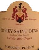 Domaine Ponsot Morey-Saint-Denis Cuvée des Grives label