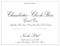Maison Nicolas Potel Chambertin Clos de Bèze Grand Cru  label