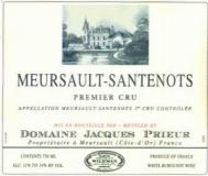 Domaine Jacques Prieur Meursault Premier Cru Santenots label