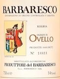 Produttori del Barbaresco Barbaresco Ovello Riserva label
