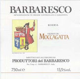 Produttori del Barbaresco Barbaresco Muncagota (formerly Moccagatta) Riserva label