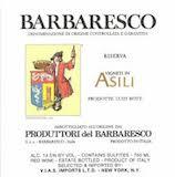 Produttori del Barbaresco Barbaresco Asili Riserva label