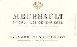 Domaine Henri (ex Jean) Boillot Meursault Premier Cru Genevrières label