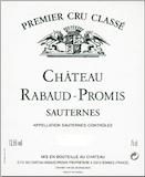 Château Rabaud-Promis  Premier Cru label