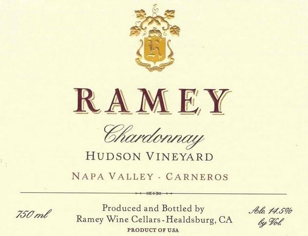 Ramey Wine Cellars Hudson Vineyard Chardonnay label