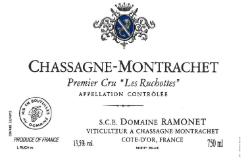 Domaine Ramonet Chassagne-Montrachet Premier Cru Les Ruchottes label