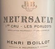 Maison Henri Boillot Meursault Premier Cru Poruzots label