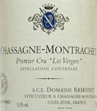 Domaine Ramonet Chassagne-Montrachet Premier Cru Les Vergers label