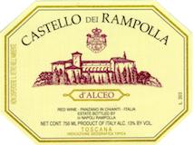 Castello dei Rampolla Alceo label