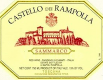 Castello dei Rampolla Sammarco label