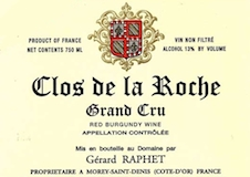 Domaine Gérard (formerly Jean) Raphet Clos de la Roche Grand Cru  label