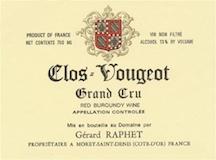 Domaine Gérard (formerly Jean) Raphet Clos de Vougeot Grand Cru  label