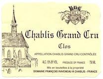 Domaine Raveneau Chablis Grand Cru Les Clos label